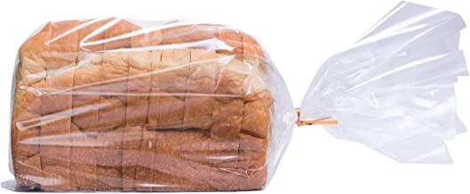 Wowfit Bread Poly Bags(PP material) – Pack of 100 Entirely Transparent Clear Bakery Bags – Bread Loaf Packing Bags with 10...