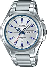 Casio MTP-E200D-7A2V Men's Stainless Steel Illuminator Day Date Silver Dial Watch