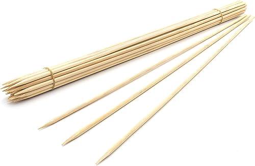"popular Royal Imports 18"" Natural new arrival Bamboo Wood Plant Stake, Floral Picks, Roasting Sticks, Wooden Kebob wholesale Grilling Skewers, Sign Posting (25 Pcs) outlet sale"