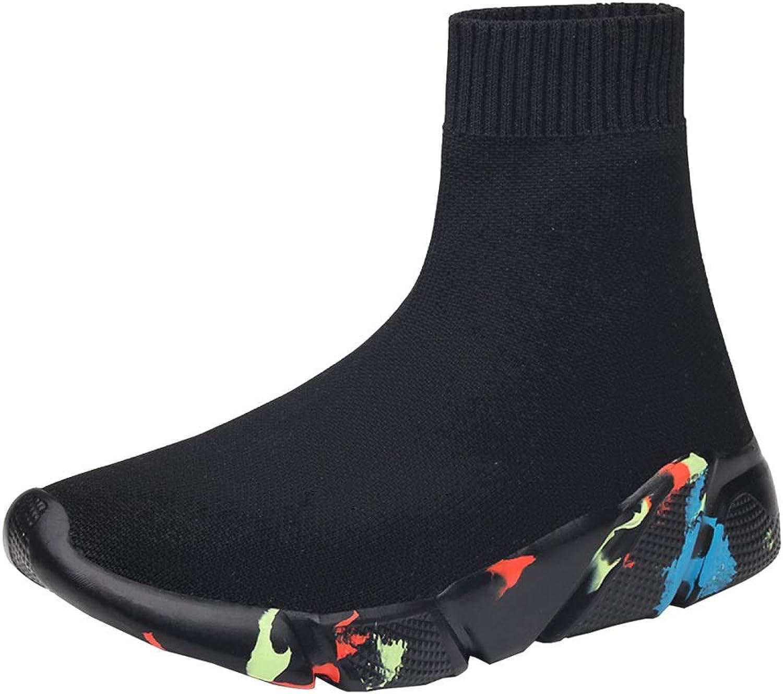 AHELMET Mnner und Frauen atmungsaktives Mesh elastische Strümpfe Freizeitschuhe Sport vier Jahreszeiten (Farbe   schwarz4, gre   46EU)