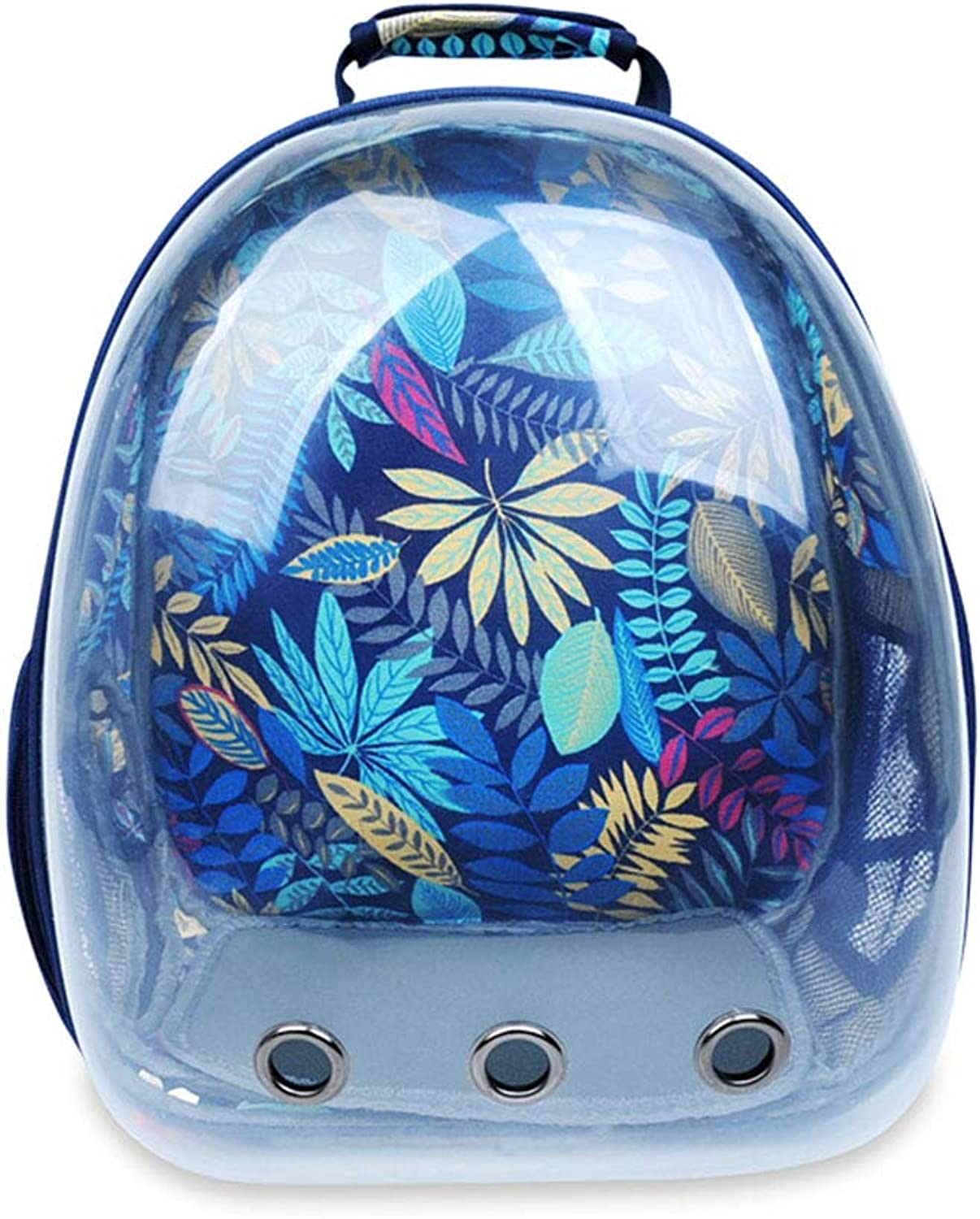 LEERAIN Pet Backpack Transparent Space Capsule Puppy Dog Package Portable Satchel Cat Bag Travel Sightseeing Breathable Outdoor,bluee