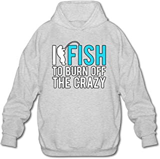 MPIQW Boy I Fish to Burn Off The Crazy Hoodie Warm Pullover Hooded Sweatshirt