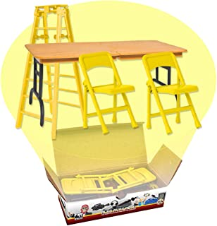 Ultimate Ladder, Table and Chairs Yellow Playset for WWE Wrestling Action Figures