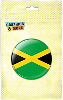 Jamaica National Country Flag Pinback Button Pin Badge