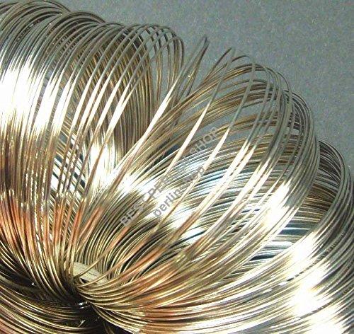 Perlin Bracelets en fil spirale 6 cm - Métal - 100 anneaux en acier Memory Wire M290