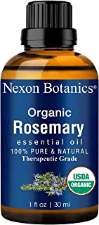 Organic Rosemary Essential Oil 30 ml - USDA Certified Pure, Natural Therapeutic Grade Rosemary Oil - Great for Aromatherapy and Diffuser from Nexon Botanics
