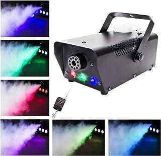 Máquina de Niebla, UKing 500W Máquina de Humo con Discoteca RGB LED Luces y Mando a Distancia para DJ Disco Boda Fiestas
