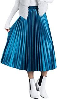 "YSJERA Women's Organza 41"" Maxi Skirt Bowknot Pleated A-Line Floor Length Party Tutu Skirts"