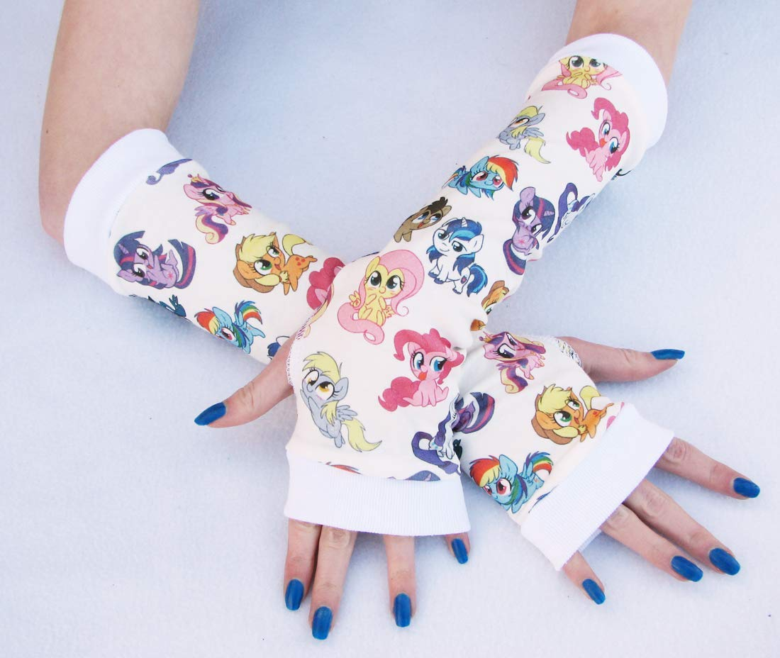 Pony Colorado Springs Mall Friends Brony Adults arm gloves Super-cheap warmers