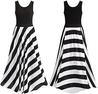 Round Neck Sleeveless Waves Pattern Maxi Dress For Women Party Wear Clubwear