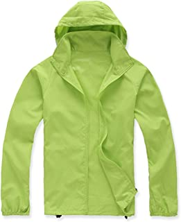 Lanbaosi Women's Lightweight Jacket Uv Protect+Quick Dry Windproof Skin Coat X-Large Apple Green