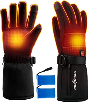 ROCKPALS Electric Heated Unisex Gloves with Battery