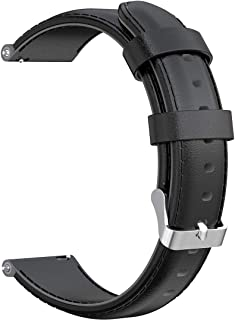 AWADUO 20mm Replacement Genuine Leather Wrist Band Strap Compatible for Nokia Withings Steel HR(40MM)/ Nokia Steel HR(40M...