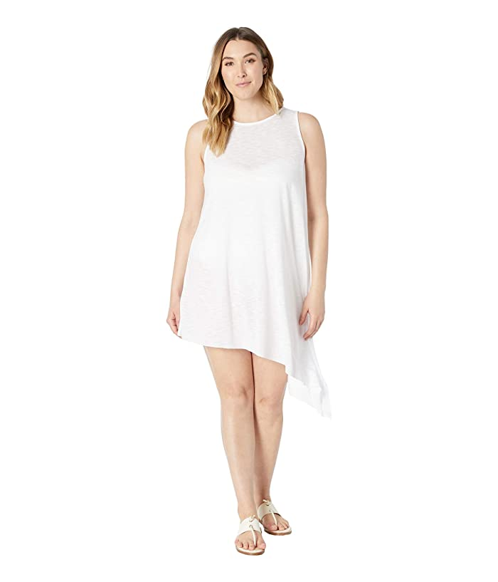 BECCA by Rebecca Virtue Plus Size Keyhole Dress Cover-Up (White) Women