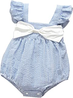Baby Girl Summer Striped Triangle Romper