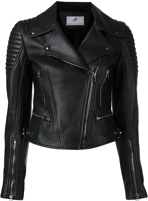 Figura Fashionz Stylish Black Faux Leather Jacket for Women