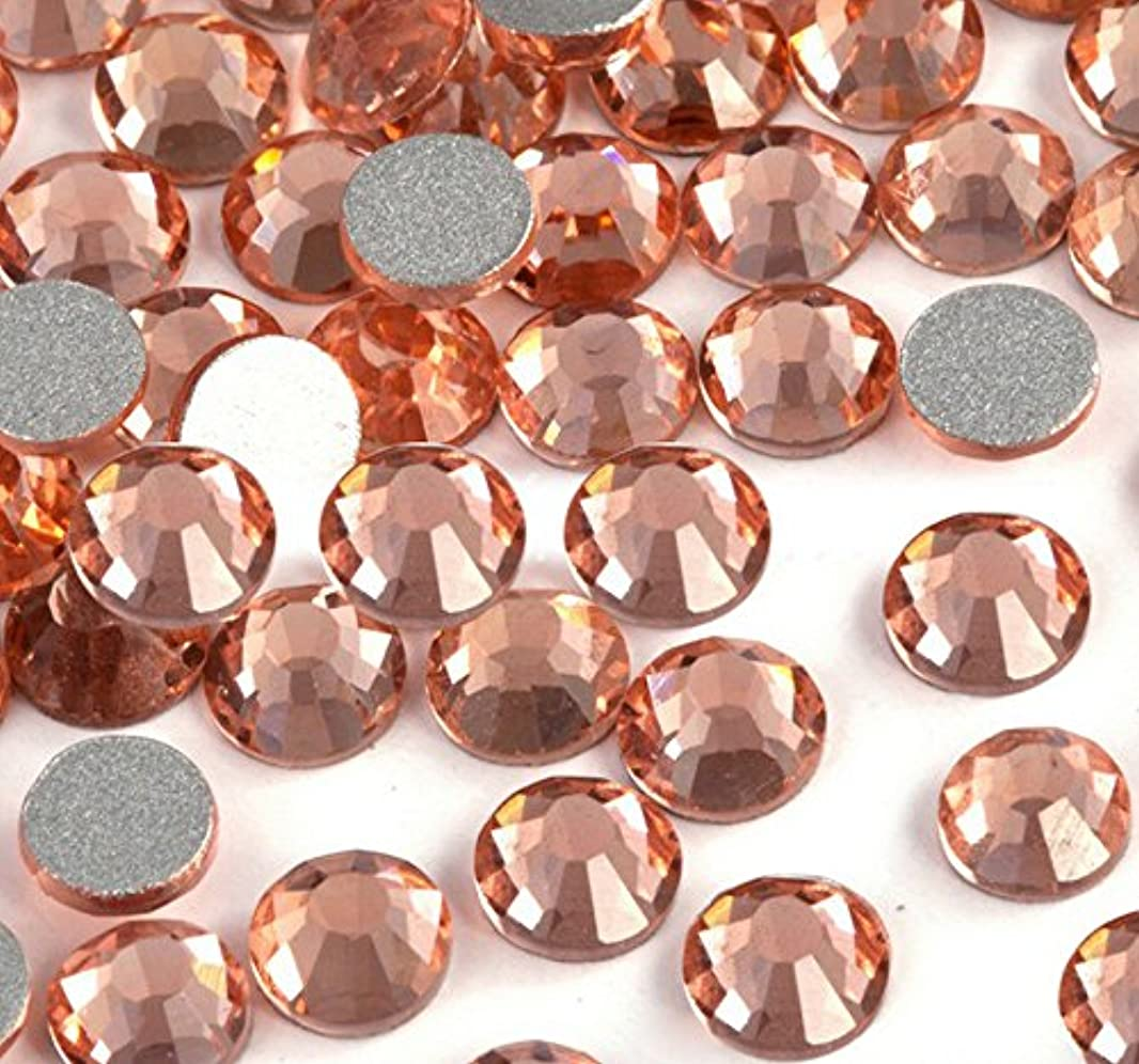 癒すかわすブラシ高品質ガラス製ラインストーン light peach/ライトピーチ 1440粒入り ネイル デコ レジンに (1.2mm (SS3) 約1440粒) [並行輸入品]