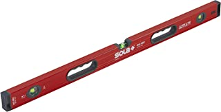 SOLA LSB36 Big Red Aluminum Box Beam Level with 3 60% Magnified Vials, 36-Inch