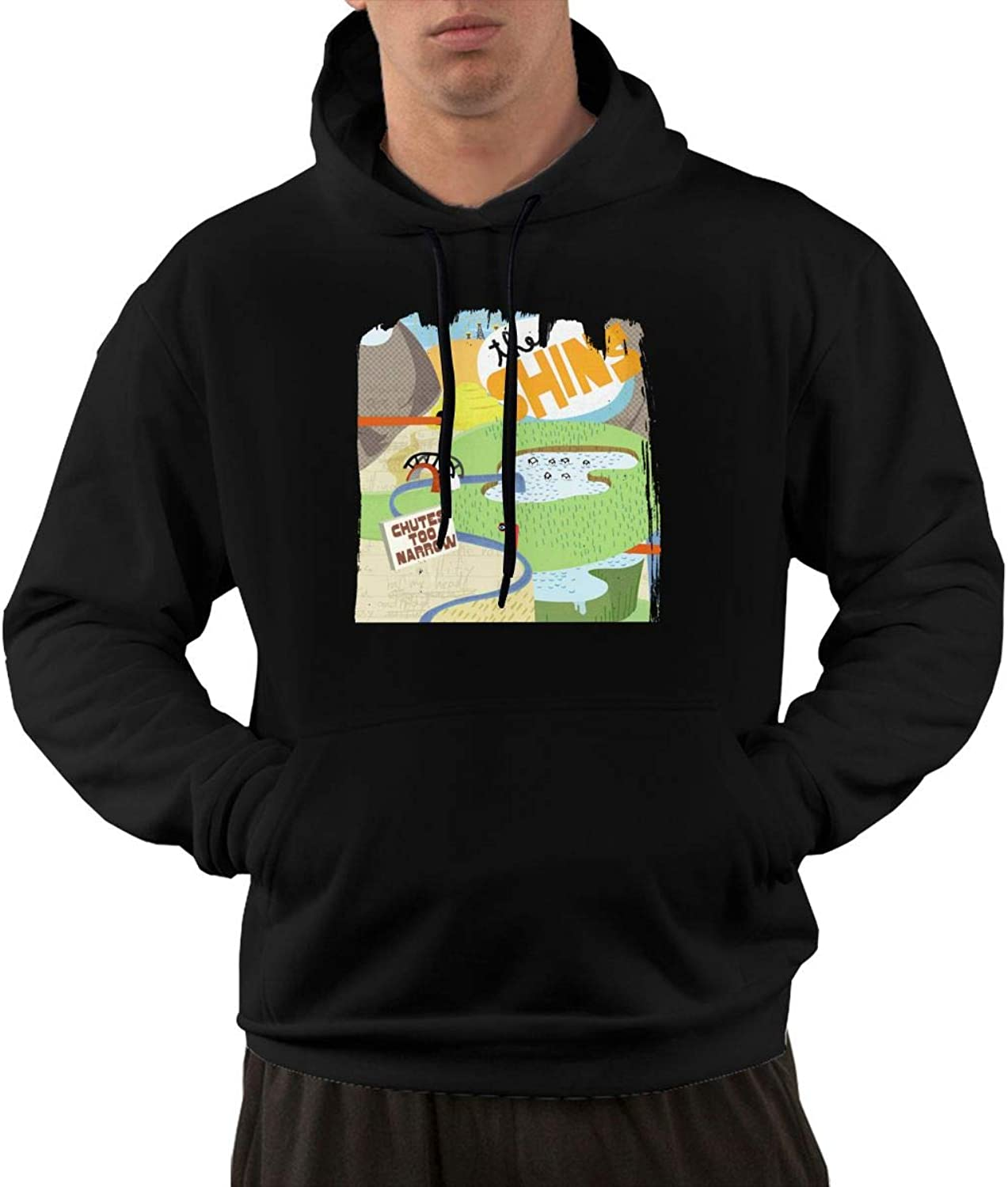 AlbertV Mens The Shins Chutes Too Narrow Hoodies Sweater With Pocket Black