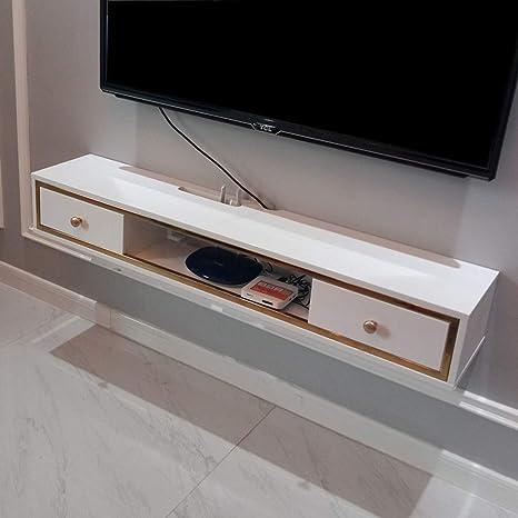 Meuble TV flottant Meuble TV suspendu Meuble TV mural Meuble TV suspendu Divertissement Console de stockage Media Center Console de jeu Console audio//vid/éo avec tiroirs et /étag/ère de rangement ouver