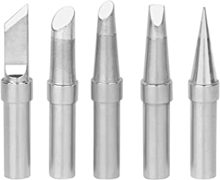 GeToo ET Series Soldering Tip for Weller WES51,WE1010,PES51,EC1201 Irons Tips, Set of 5 Shapes