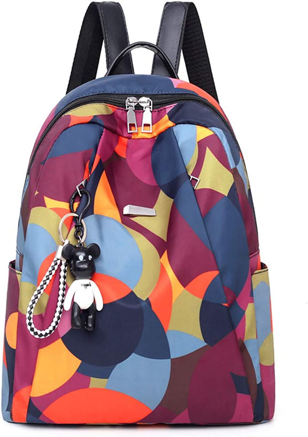 Multicolor Oxford Cloth Backpack Canvas Backpack Large Capacity Bag Casual Practical Simple