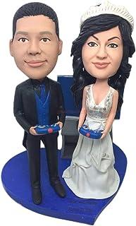 Regalo di San Valentino Personalizzato Personalizzato Cake Topper Figurine di argilla Basato sulle foto dei clienti Cake T...