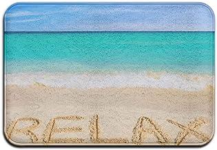Relax Summer Theme Anti-Slip Door Mat Home Decor Indoor Outdoor Entrance Doormat Rubber Backing 23.6 X 15.7 Inches