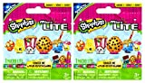 Shopkins Micro Lite Series 1 Mystery Packs / Blind Bags - 2 Pack. (Includes 2 Packages Total. Each Package Contains 1 Random Mini Shopkins Micro Lites Figure Toy With LED Light That Lights Up. Randomly Assorted Food Characters Include: Chee Zee, Molly Mops, Dum Mee Mee, Juicy Orange, Poppy Corn, or Kookie Cookie.)