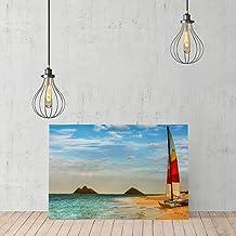 UKSILYHEART Catamaran On A Beautiful Beach Canvas Art, Landscape Living Room Canvas, Bedroom Wall Decor, Ready To Hang Modern Office Canvas Art, Photo Canvas Print Canvas Art