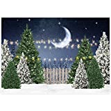 Allenjoy Fondo de Navidad para fotografía de invierno, pino, árbol, decoración para baby shower, cumpleaños, fotografía, barco, estudio, accesorios, 210 x 150 cm