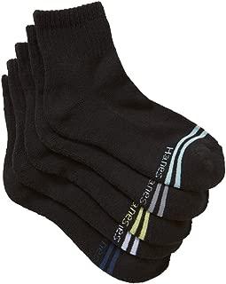 Hanes Kids Cotton Blend Active Quarter Crew Socks (5 Pack)