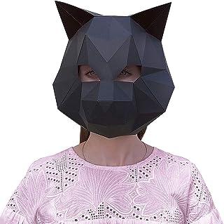 Paperraz DIY 3D Rabbit Mask Animal Low Poly PaperCraft Building Kit - NO Scissors Needed