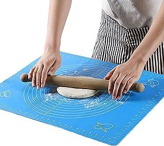 Tapis de Cuisson Silicone Anti-adhésif – Tapis de pâtisserie en Silicone Antidérapant – Feuille à Pâtisserie avec Mesure