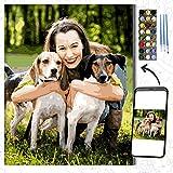 Kits personalizados para pintar por números para adultos, kits profesionales de pintura de mascotas y retratos, regalos de bricolaje, haga su propia foto con marco, pinturas y pinceles para dibujar