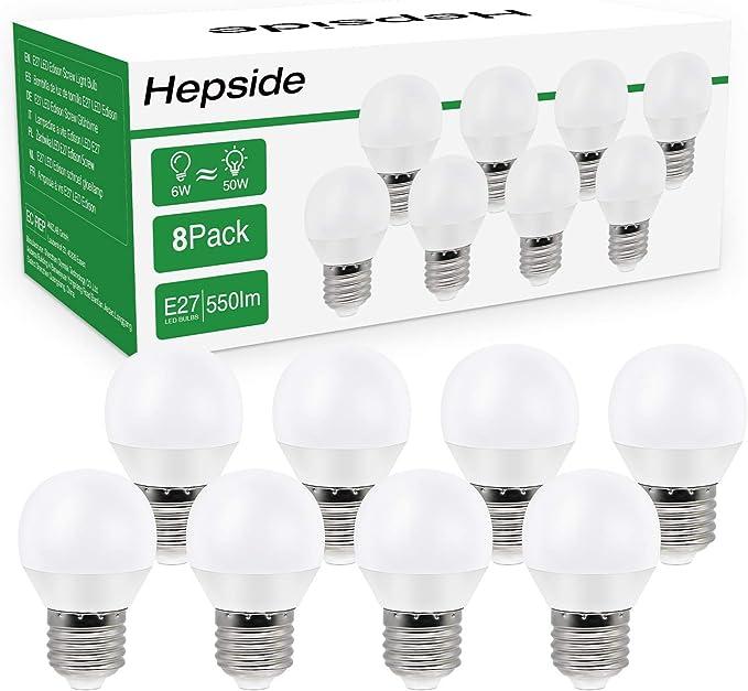 180 opinioni per Lampadina LED E27, Hepside 6W (equivalenti a 50W) 550 Lumen, Lampadine led E27