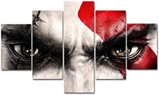 Canvas paintings wall art Modular HD 5 Piece pictures poster and print Oil Painting God of War for livingroom -40CMx60/80/...