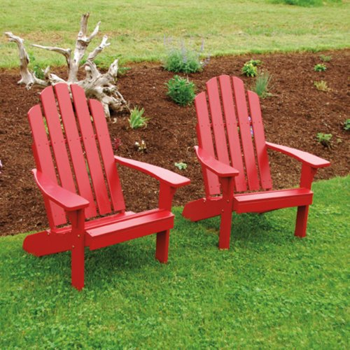 A & L Furniture Yellow Pine Kennebunkport Adirondack Chair, Redwood Stain