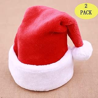 Christmas Hats Bulk Santa Hats- Christmas Costume Classic Hat -Christmas Hats for Women/Men/Kids/Adult (2 Pack Christmas Hats)