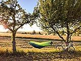 Hängematte Silk Traveller Fallschirmseide grün – Belastbar bis 150 Kg - 8