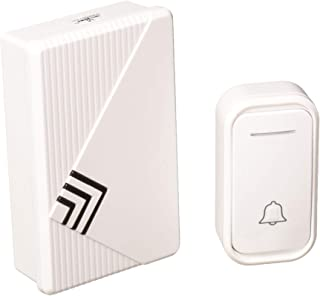 Stalwart Doorbell – Wireless Electronic Battery Operated Alert System with LED Indicator, 80 Meter Range, 38 Chimes and 3 Volume Control Settings