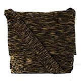 Chris Crafts Unisex Black & Yellow Textured Sling Bag (Size 12 Inches)