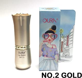 [OURA] Lip Balm SPF15 (3.3g) X 1ea / NO2. Gold/moisturezing, UV protection, Horse Oil ingredients