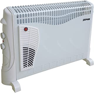 Zephir ZCV2002T Interior Color blanco 2000W Radiador/ventilador - Calefactor (Radiador/ventilador, Interior, Piso, Pared, Color blanco, Giratorio, 2000 W)