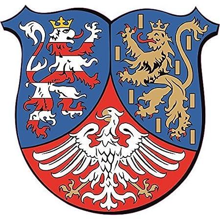 U24 Aufkleber Hessen Nassau Wappen Autoaufkleber Sticker Konturschnitt Auto