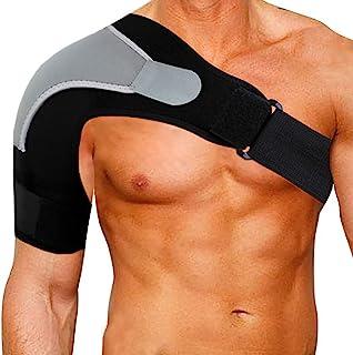 پشتیبان قابل تنظیم قابل تنظیم بر روی شانه پایداری شانه با پد فشار ، پشتیبانی از شانه فشار روتاتور نئوپرن نفس سبک برای ورزش ، مفاصل جابجایی AC ، پارگی لابروم ، درد شانه - درست