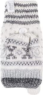 HEAT HOLDERS - Womens Warm Patterned Thermal Fingerless Winter Mittens Converter Gloves