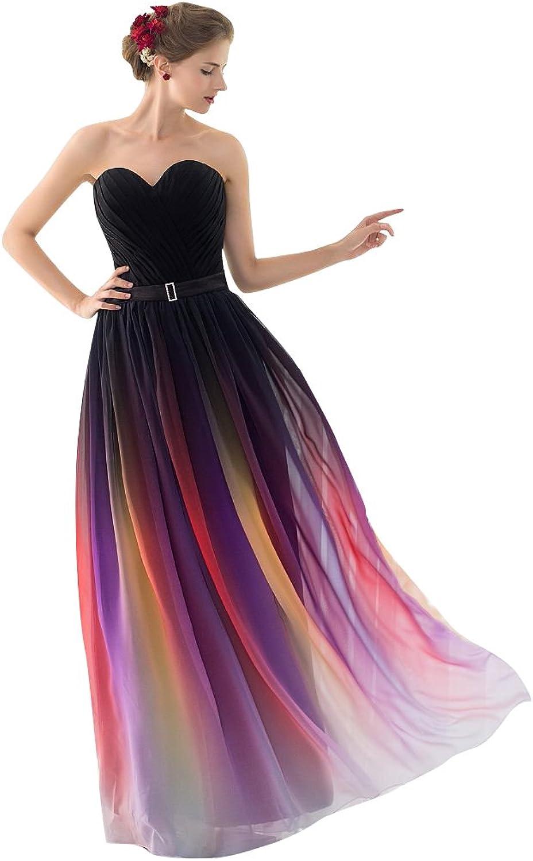 BeautyEmily Gradient Sweetheart Neckline Evening Dresses