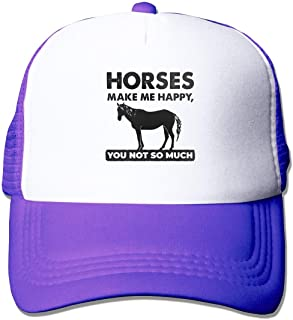 Horses Make Me Happy You Not So Much Unisex Mesh Adjustable Baseball Cap Trucker Hat