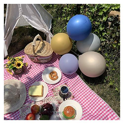 WSZMD 2m * 1.5m Mat Picnic Al Aire Libre Camping Picnic Mat Impermeable Picnic Mats Matters Colchoneta Camping Mats Play Mats Plaid Manta, Manta Picnic (Color : Rose Red Grid, Size : 150X200cm)